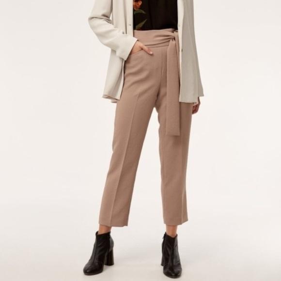Aritzia Wilfred Geneva High Waist Rose Pant Size 8